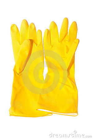 Sanitary gloves isolated
