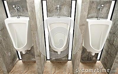 Sanitary ware in men s restroom