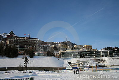 Sankt Moritz Editorial Image