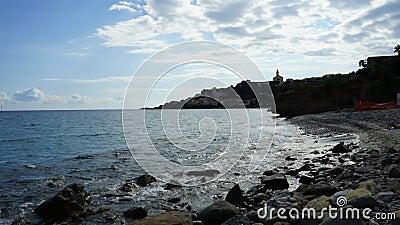 Sanremo Ιταλία timelapse από τον ωκεανό φιλμ μικρού μήκους