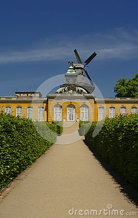 Sanssouci garden in Potsdam, near Berlin