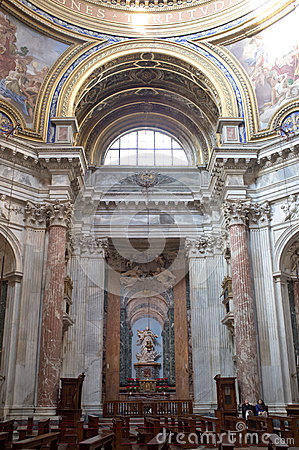 Sant Agnese in Agone in Rome Editorial Photography