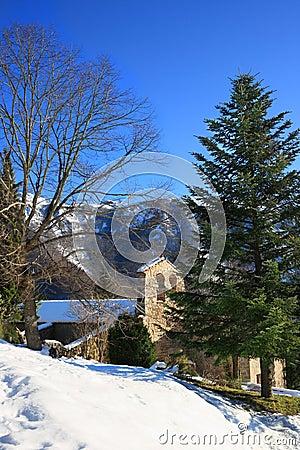 Sant Marçal chapel (Montseny, Catalonia, Spain)