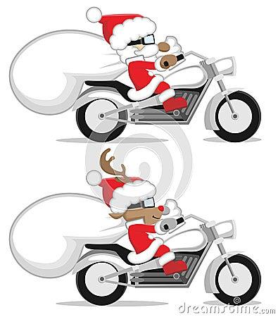 Santa και τάρανδος