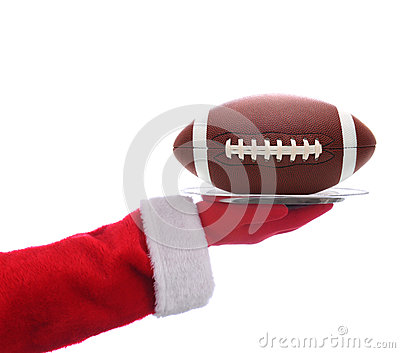 Santa with American Football Tray