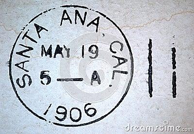 Santa Ana California 1906 American Postmark