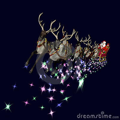 Free Santa And Reindeer 2 Stock Photography - 3179482