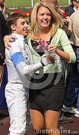 Santa Anita Derby Winner Joe Talamo Editorial Photo