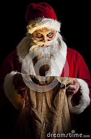Santa asustadizo