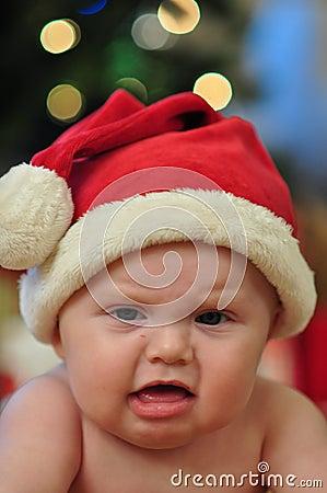 Santa Baby FAce Cranky