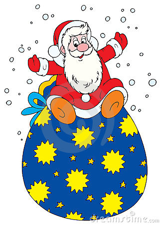 Santa with bag of presents