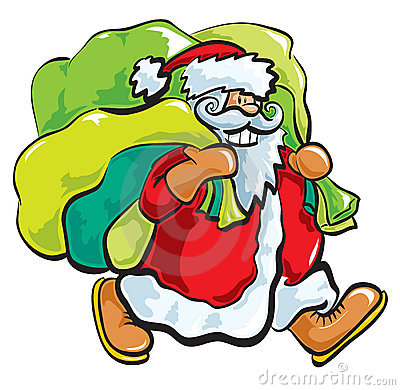 Santa with bags