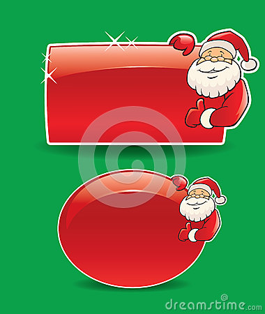 Santa banner on green background