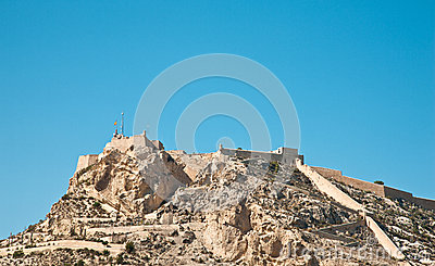 Santa Barbara castle in Alicante, Spain