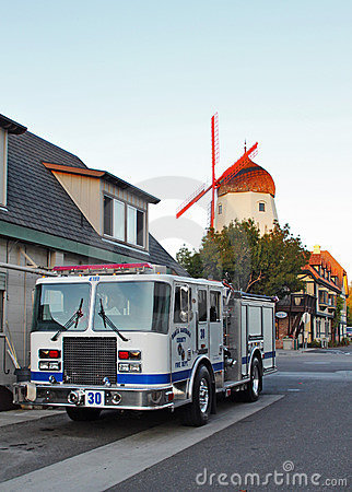 Santa Barbara County Fire Truck in Solvang, CA