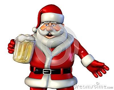 Santa with Beer 2