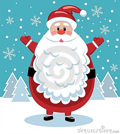 Santa with big beard