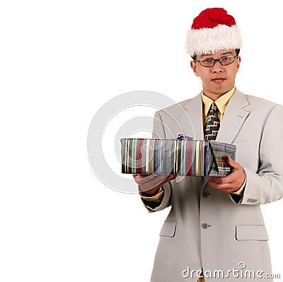 Santa Biz Man Offering Gift 2