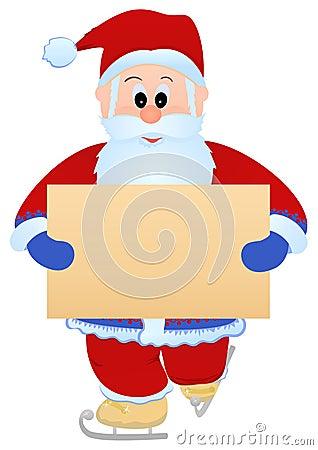 Santa with blank sheet