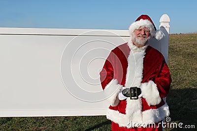 Santa With Blank Sign