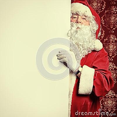 Santa with a board
