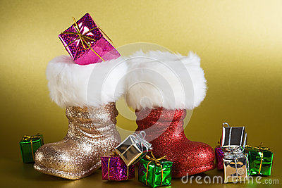 Santa Boots with Gifts