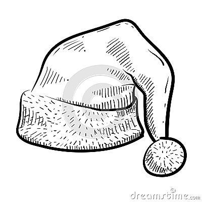 Santa cap sketch