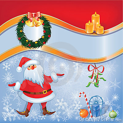 Santa card with Christmas decor 04