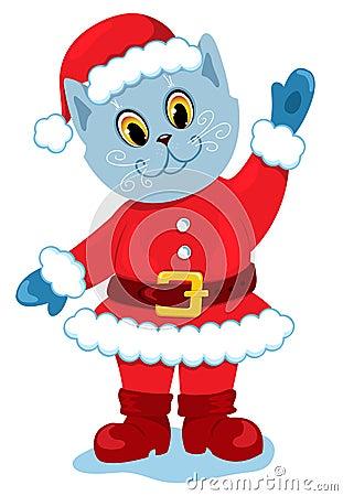 The santa-cat.