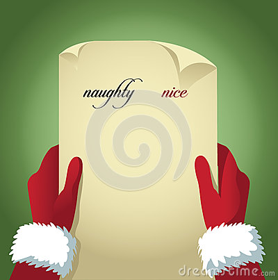 Free Santa Checking His Naughty And Nice List Stock Photos - 47957793