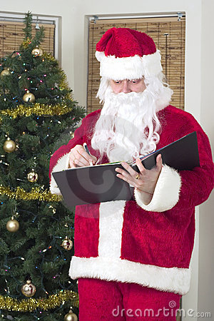 Santa cheking his list