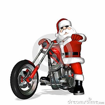 Free Santa Chopper 1 Royalty Free Stock Photography - 1490307