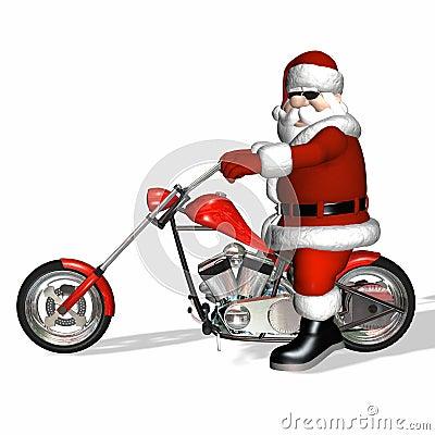 Free Santa Chopper 3 Royalty Free Stock Image - 1490306