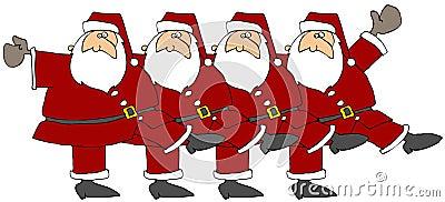 Santa Chorus Line