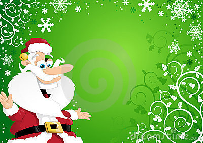 Santa on Christmas Background