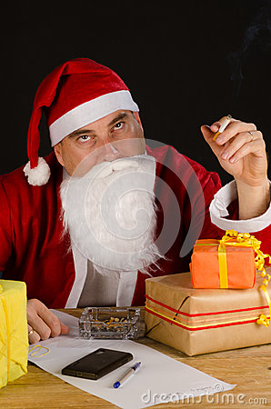 Santa cigarette break