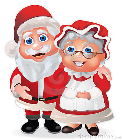 Free Santa Claus And Mrs Claus Stock Photography - 16432312