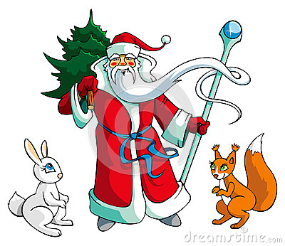 Santa Claus with animals