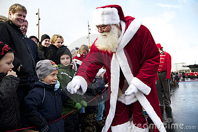 Santa Claus arrives in Aalborg Editorial Photography