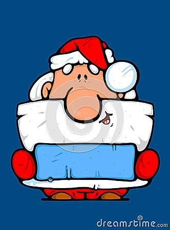Santa Claus as an advertiser