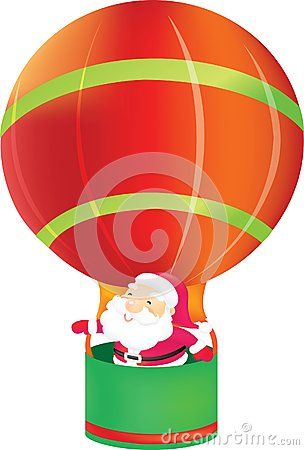 Santa claus in Balloon