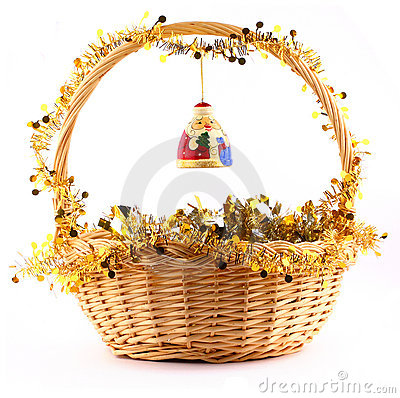 santa claus on the basket