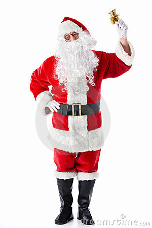 Santa Claus with a bell