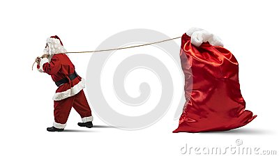 Santa Claus with big sack