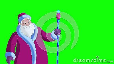 Santa Claus Blowing Snow op het Groene Scherm royalty-vrije illustratie