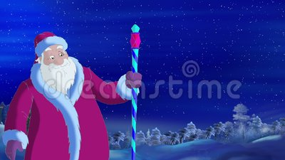 Santa Claus Blowing Wind royalty-vrije illustratie