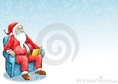 Santa claus with blue background