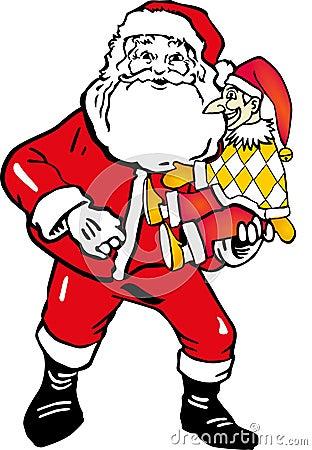 Santa Claus and buffoon
