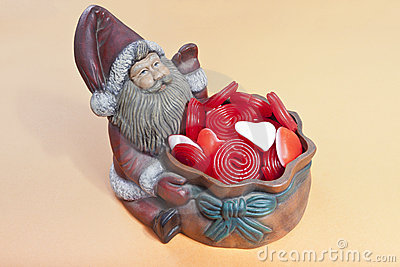 Santa Claus with candy