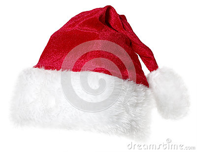 Santa Claus cap isolated